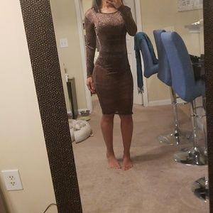 Sheer all over dress. Brand new